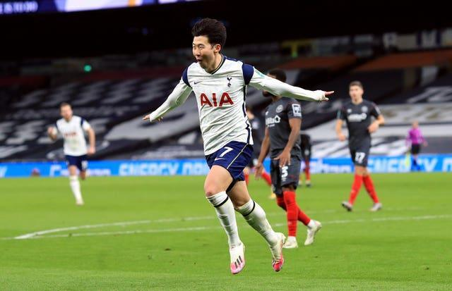 Son Heung-min sent Tottenham to Wembley with a second goal against Brentford