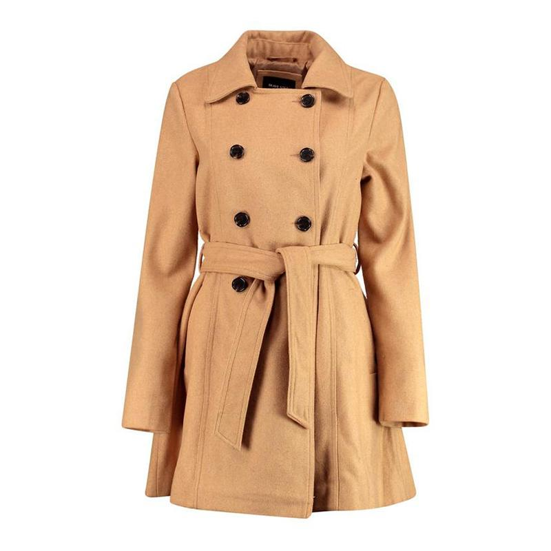 """<a rel=""""nofollow"""" href=""""http://rstyle.me/n/cka4irjduw"""">Vanessa Double Breasted Belted Trench Coat, Boohoo, $52</a>"""