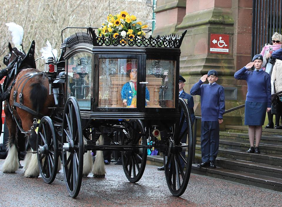 Sir Ken Dodd is laid to rest in Liverpool. (PA)