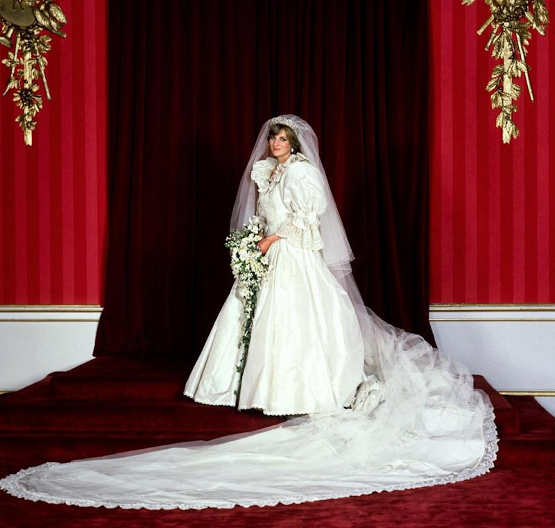 Diana, Princess of Wales on her wedding day in 1981 (PA Archive/PA Images)