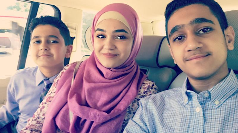 Salsabel (center) said sheloves how diverse her community in Missouri is. (Mohammad Fares)
