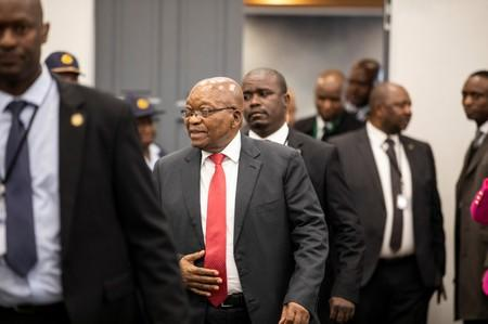 Former South African President Jacob Zuma arrives to appear before the Commission of Inquiry into State Capture in Johannesburg