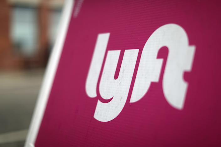 The Lyft <span> Driver Hub is seen in Los Angeles, California, U.S., March 20, 2019. REUTERS/Lucy Nicholson</span>