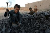 UNICEF says the number in child labour stood at 160 million at the start of 2020 -- an increase of 8.4 million in four years