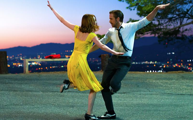 Oscar nominees: Emma Stone and Ryan Gosling in La La Land
