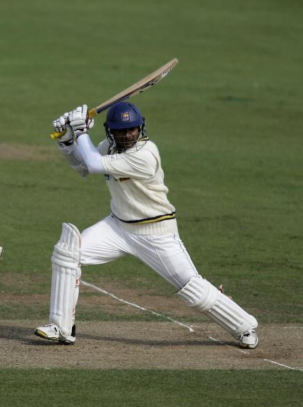 HOVE, UNITED KINGDOM - MAY 18:  Kumar Sangakkara of Sri Lanka batting during the tour match between Sussex and Sri Lanka at Hove Cricket Ground on May 18, 2006 in Hove, Sussex.  (Photo by Ben Radford/Getty Images)