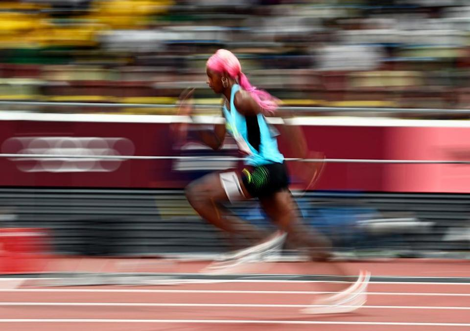 Shaunae Miller-Uibo in the 400m.