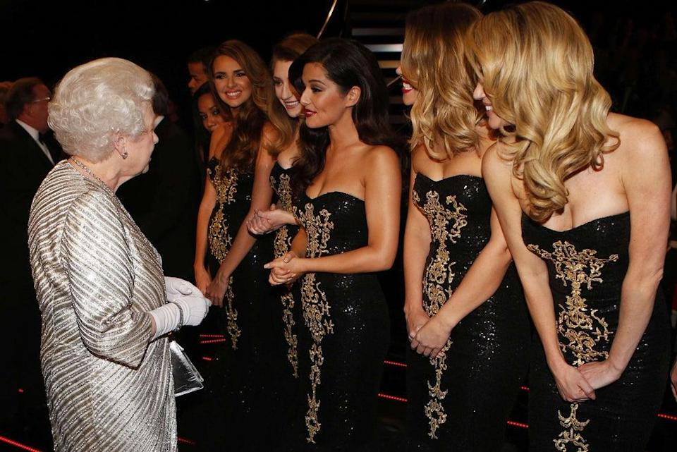 The Queen greets Cheryl Cole and Girls Aloud (Andrew Winning/Reuters/PA) (PA Archive)