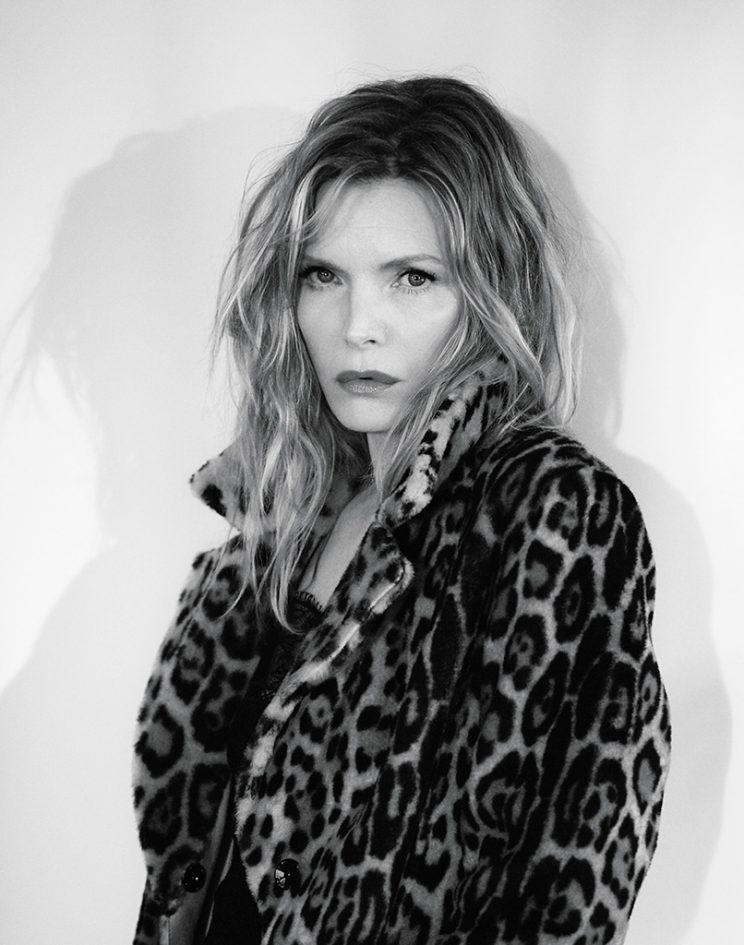 Pfeiffer looks good in leopard print. (Photo: Mikael Jansson/Interview)