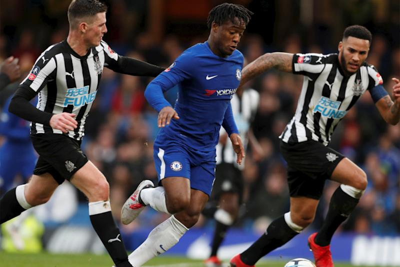 Michy Batshuayi in high spirits after Chelsea brace despite talk of exit