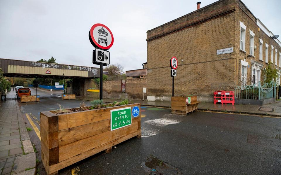 Low traffic neighbourhoods have caused outrage among frustrated residents - Geoff Pugh for The Telegraph