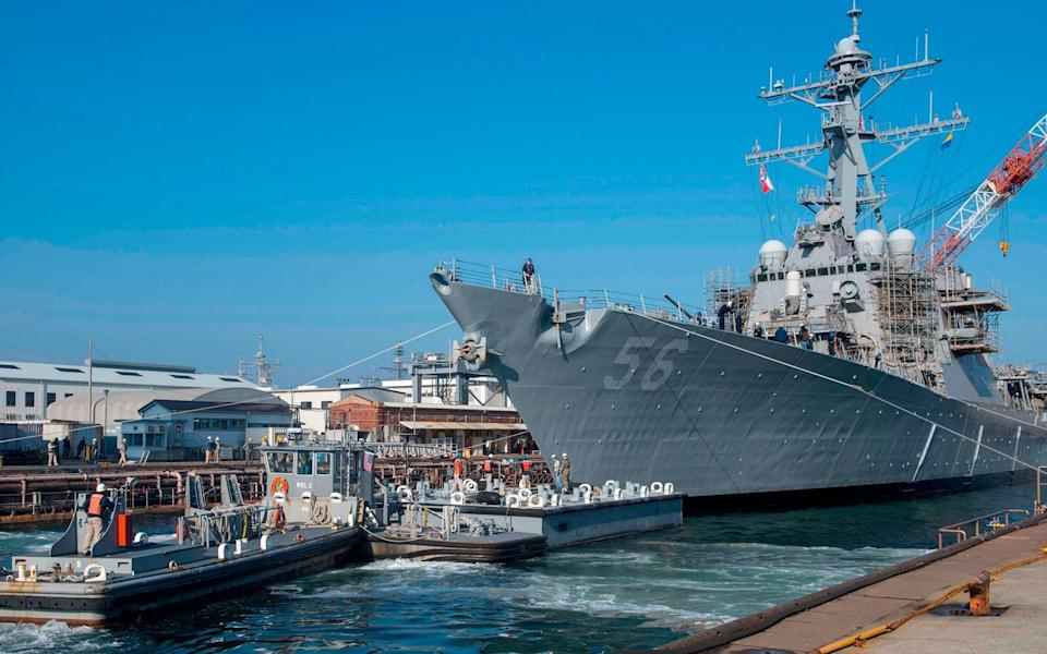 Arleigh Burke-class guided missile destroyer USS John S McCain - TYRA WATSON/AFP/Getty Images