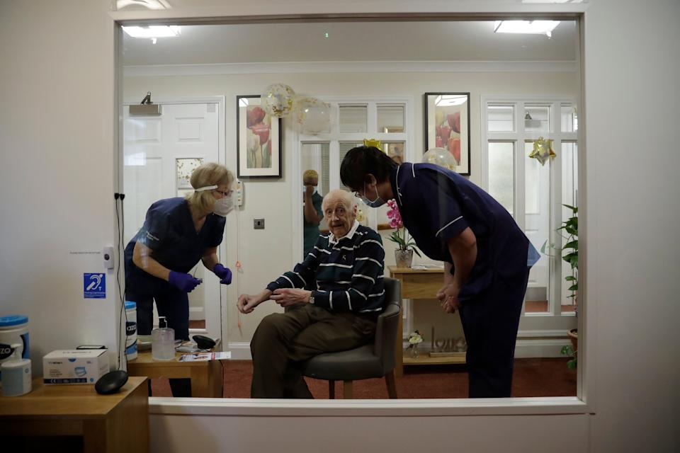 <p>The capital's most senior doctor urged people to come forward 'without delay' for the jab when called</p> (AP)