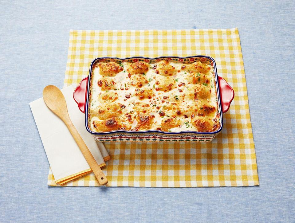 """<p>Anyone can see why these make-ahead stuffed shells were a huge hit. Just look at 'em!<br> </p><p><a class=""""link rapid-noclick-resp"""" href=""""https://www.thepioneerwoman.com/food-cooking/recipes/a97301/chicken-alfredo-stuffed-shells/"""" rel=""""nofollow noopener"""" target=""""_blank"""" data-ylk=""""slk:Get the Recipe!"""">Get the Recipe!</a></p>"""