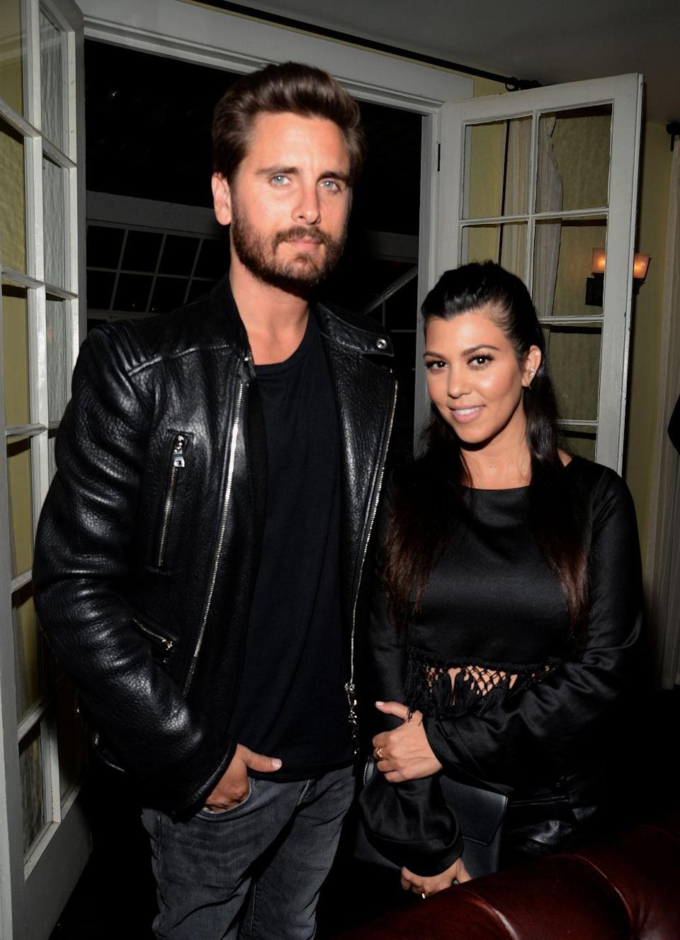 """<p>Though they've never gotten married, Kourtney Kardashian and Scott Disick were partners for the better part of six years. When cheating rumors surfaced in <a href=""""https://www.eonline.com/news/673020/scott-disick-partying-hard-and-off-the-wagon-in-south-of-france-without-kourtney-kardashian"""" rel=""""nofollow noopener"""" target=""""_blank"""" data-ylk=""""slk:July 2015"""" class=""""link rapid-noclick-resp"""">July 2015</a>, Kourtney <a href=""""https://www.eonline.com/news/673240/kourtney-kardashian-breaks-up-with-scott-disick-she-has-to-do-what-s-best-for-the-kids%EF%BB%BF%EF%BB%BF"""" rel=""""nofollow noopener"""" target=""""_blank"""" data-ylk=""""slk:didn't waste any time"""" class=""""link rapid-noclick-resp"""">didn't waste any time</a> and dumped the father of her three children. The couple <a href=""""https://www.eonline.com/news/813135/kourtney-kardashian-and-scott-disick-are-back-together-after-a-year-and-a-half-apart%EF%BB%BF%EF%BB%BF"""" rel=""""nofollow noopener"""" target=""""_blank"""" data-ylk=""""slk:reunited in late 2016"""" class=""""link rapid-noclick-resp"""">reunited in late 2016</a>, only to call it quits for a second time in <a href=""""https://www.cosmopolitan.com/uk/entertainment/news/a49327/scott-disick-cosies-up-women-miami-hours-kourtney-kardashian/"""" rel=""""nofollow noopener"""" target=""""_blank"""" data-ylk=""""slk:February 2017"""" class=""""link rapid-noclick-resp"""">February 2017</a>. </p>"""