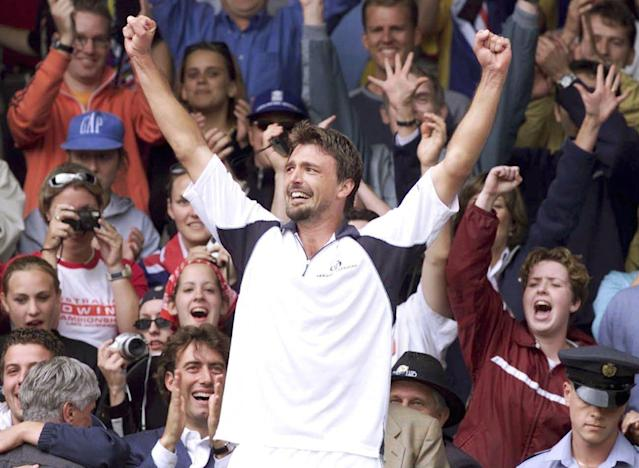 <p>Goran Ivanišević went into Wimbledon ranked 125th. He somehow became the only wild card to defy the odds and win the tournament, beating Australia's Pat Rafter in the final. </p>