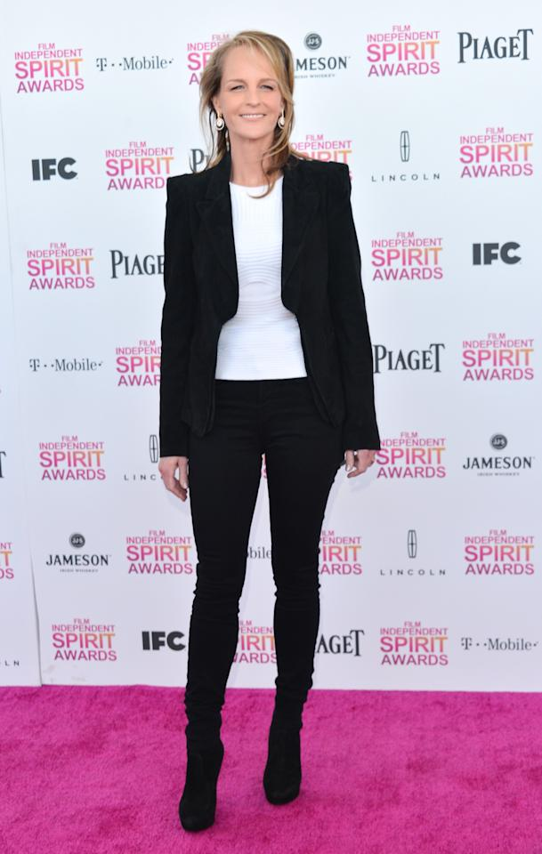 SANTA MONICA, CA - FEBRUARY 23: Actress Helen Hunt attends the 2013 Film Independent Spirit Awards at Santa Monica Beach on February 23, 2013 in Santa Monica, California.  (Photo by Alberto E. Rodriguez/Getty Images)