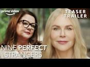 """<p><strong>Release date: 18th August 2021 on Prime Video</strong></p><p>Big Little Lies fans are in for a treat because another of Australian author Liane Moriarity's novels has been adapted for TV — and a brand new, Prime Video trailer has just dropped for the upcoming psychological thriller, starring a very creepy-looking Nicole Kidman and Melissa McCarthy.</p><p>Just like BLL, Kidman will feature as executive producer — as well as starring in the show — and BLL creator David. E. Kelley will be at the helm of the miniseries, which has been filmed in Australia.</p><p>Nine Perfect Strangers is set in a wellness retreat, where we are introduced to nine city dwellers who are also strangers to each other. The story focuses mainly on middle-aged romance writer, Frances (Melissa McCarthy) who has lost her spark, before later being introduced to ethereal and dangerous-looking retreat leader Masha (Kidman). </p><p>After months of teasers and anticipation, Prime Video recently announced that the upcoming series will arrive on screens as soon as this summer — which is very exciting news for fans.</p><p><a href=""""https://youtu.be/g-Af8zjRUqM"""" rel=""""nofollow noopener"""" target=""""_blank"""" data-ylk=""""slk:See the original post on Youtube"""" class=""""link rapid-noclick-resp"""">See the original post on Youtube</a></p>"""