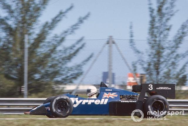 """Martin Brundle, Tyrrell 012 Ford <span class=""""copyright"""">Motorsport Images</span>"""