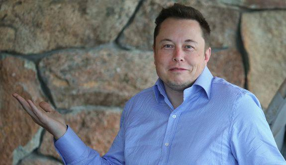 Elon Musk, CEO of SpaceX and Tesla Motors looking flummoxed.