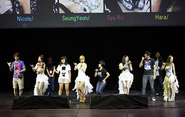 Kara's fans dance with them on stage (Photo courtesy of VizPro)