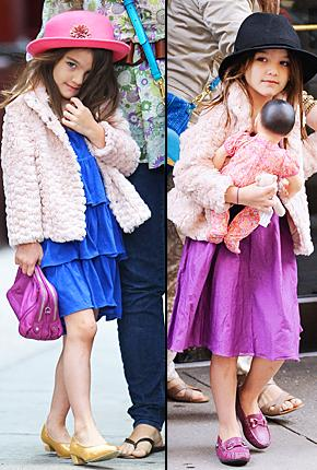 Suri Cruise, 5, Changes (Fab!) Outfits Twice in One NYC Day