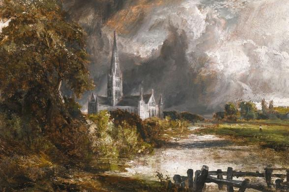 The Constable oil sketch of Salisbury Cathedral