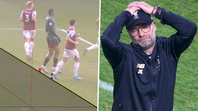 The Liverpool boss wants to see the line used to check offside made thicker, with the flaws in the technology exposed once again at Turf Moor