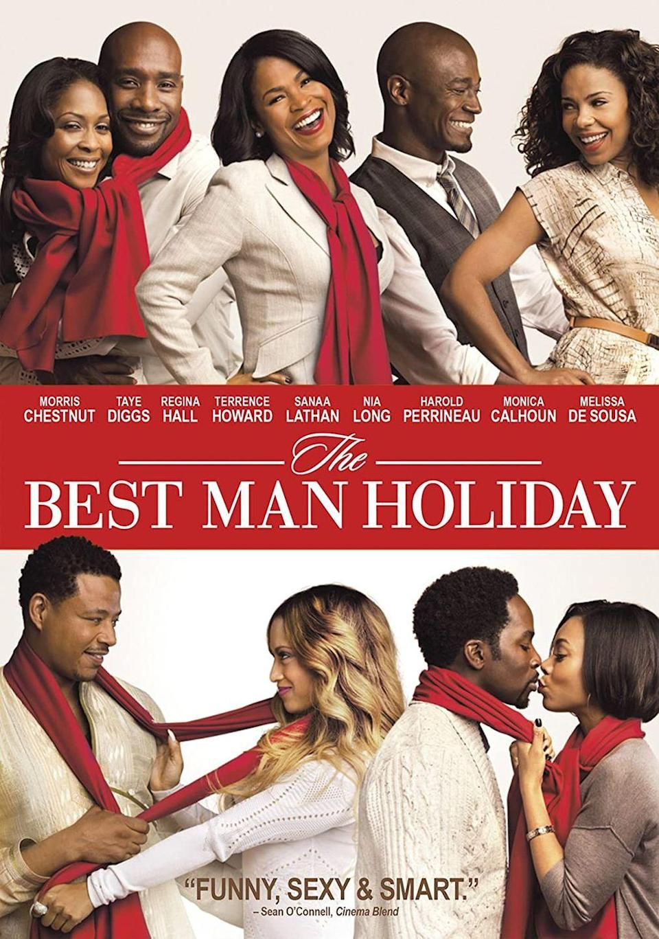 """<p>A sequel to 1999's <em><a href=""""https://www.amazon.com/Best-Man-Taye-Diggs/dp/B001VM6Z1O?tag=syn-yahoo-20&ascsubtag=%5Bartid%7C10055.g.1315%5Bsrc%7Cyahoo-us"""" rel=""""nofollow noopener"""" target=""""_blank"""" data-ylk=""""slk:The Best Man"""" class=""""link rapid-noclick-resp"""">The Best Man</a></em>, director Malcom D. Lee reunites the original cast, including Taye Diggs, Terrence Howard and Nia Long for a holiday-themed comedy. Make sure to tell your loved ones how much you care for them throughout this season.</p><p><a class=""""link rapid-noclick-resp"""" href=""""https://www.amazon.com/Best-Man-Holiday-Monica-Calhoun/dp/B00HYI8DWS?tag=syn-yahoo-20&ascsubtag=%5Bartid%7C10055.g.1315%5Bsrc%7Cyahoo-us"""" rel=""""nofollow noopener"""" target=""""_blank"""" data-ylk=""""slk:WATCH NOW"""">WATCH NOW</a></p>"""