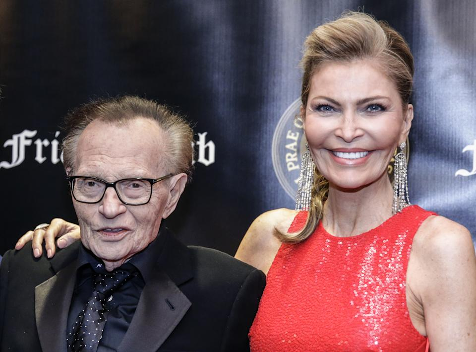 Television host Larry King and wife, Shawn Southwick King, together in November 2018.