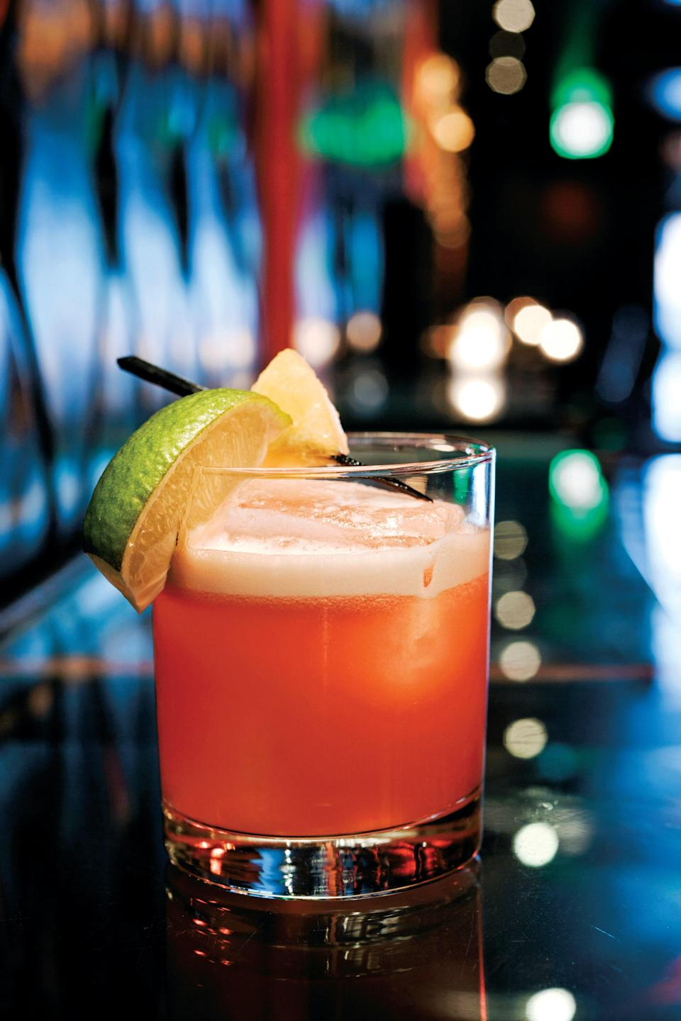 """This easy tiki cocktail is in our hall of fame. It's refreshing and balanced and juicy, thanks to a pour of bitter Campari and fresh pineapple in the mix. Do not let another week go by without trying one. <a href=""""https://www.epicurious.com/recipes/food/views/jungle-bird-cocktail-rum-amaro?mbid=synd_yahoo_rss"""" rel=""""nofollow noopener"""" target=""""_blank"""" data-ylk=""""slk:See recipe."""" class=""""link rapid-noclick-resp"""">See recipe.</a>"""