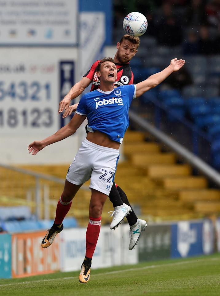 Soccer Football - Portsmouth vs AFC Bournemouth - Pre Season Friendly - June 22, 2017  Bournemouth's Simon Francis in action against Portsmouth's Kal Naismith  Action Images via Reuters/Alan Walter