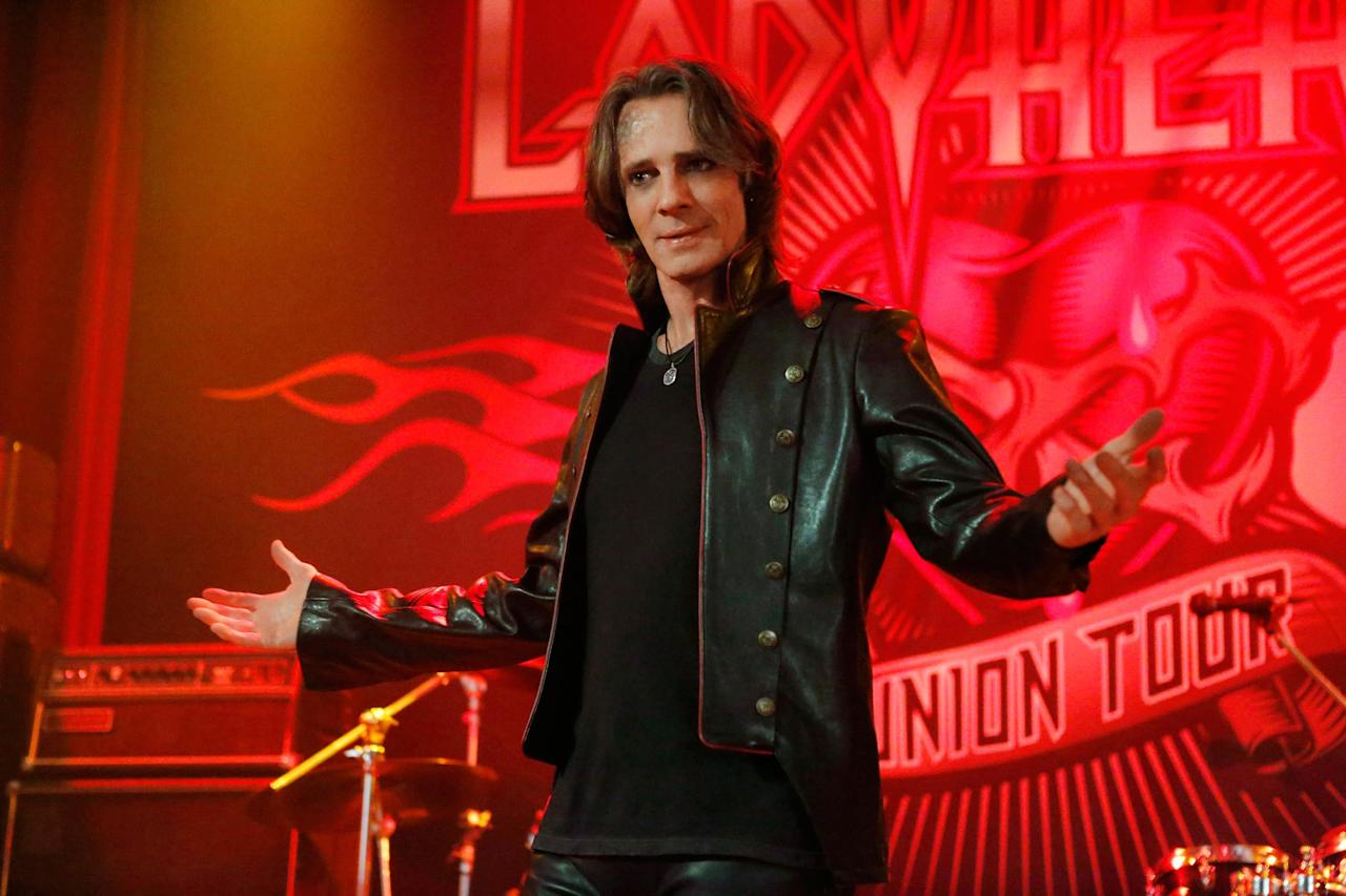 """Lucifer entered another vessel in season 12: musician and actor Rick Springfield (""""Jessie's Girl""""). Springfield rocked a guitar in his multi-episode arc, parodying himself as a washed-up star reuniting his band Ladyheart. (That's when we learned Dean is not a fan of '80s hair metal.)"""