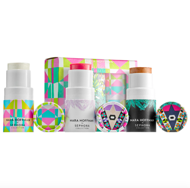 """<p>For that teen in your life who only rolls her eyes at you a <em>little</em> bit, why not hook her up with blush, highlighter and bronzer — everything she needs to make sure her complexion is lit.</p> <br> <br> <strong>Sephora Collection</strong> Mara Hoffman for Sephora Collection: Kaleidescape Cheek, $19, available at <a href=""""https://www.sephora.com/product/mara-hoffman-for-sephora-collection-kaleidescape-cheek-trio-P409761#locklink"""" rel=""""nofollow noopener"""" target=""""_blank"""" data-ylk=""""slk:Sephora"""" class=""""link rapid-noclick-resp"""">Sephora</a>"""
