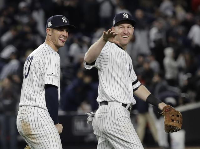 The Yankees should be all smiles after destroying the Red Sox on Twitter. (AP Photo/David J. Phillip)