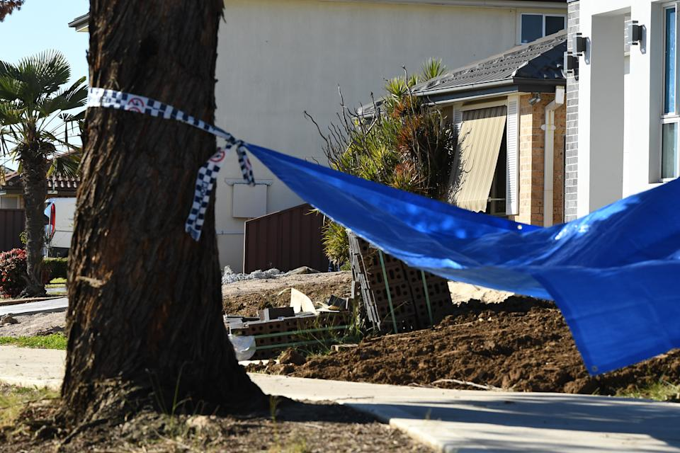 NSW Police establish a crime scene at a home at St Clair, on July 21, 2019, following the death of the Sydney mother. Source: AAP
