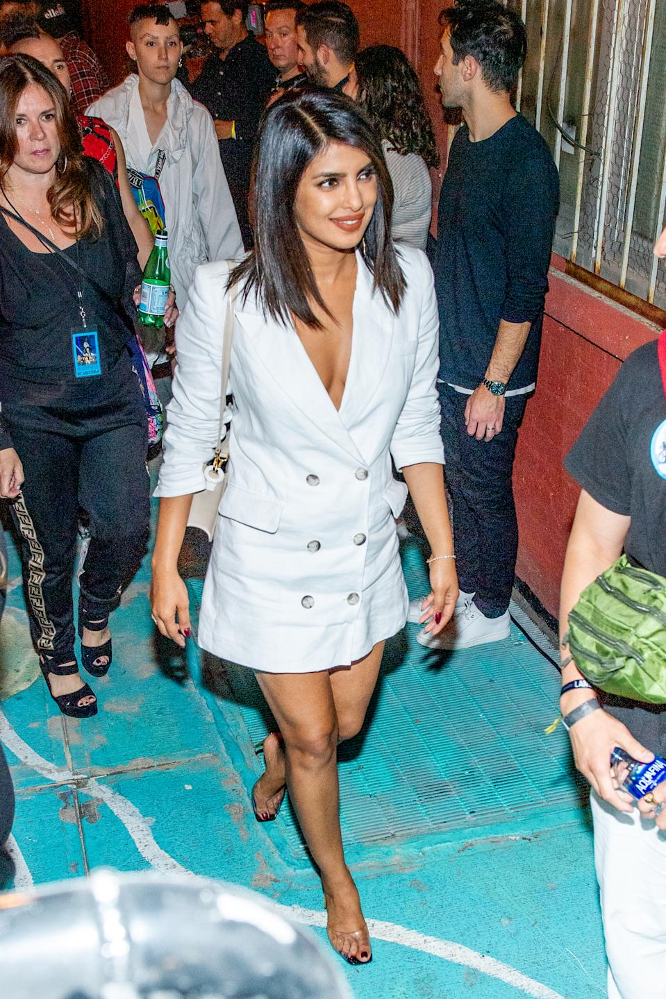 NEW YORK, NEW YORK - AUGUST 29: Priyanka Chopra attends Nick Jonas x John Varvatos Villa One Tequila Launch at John Varvatos Bowery NYC on August 29, 2019 in New York City. (Photo by Roy Rochlin/Getty Images)