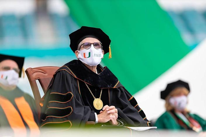 University of Miami President Julio Frenk encouraged the graduates to always make sure that what drives them 'is more than mere self interest.'