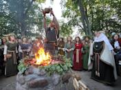 Romuva is a pantheistic religion based on the belief that the natural world is divine (AFP Photo/Petras Malukas)