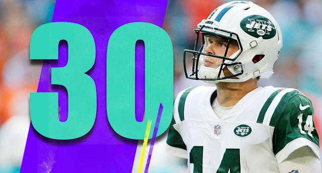 <p>Sam Darnold still wasn't practicing Monday due to a foot injury. Some time off won't be bad for him, and the Jets should be very conservative with his return. (Sam Darnold) </p>
