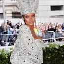 """<p>If we're honest, this Met Gala outfit mesmerised us so much we didn't even realise Rihanna paired it with a bleach brow until we looked back at it, but now we have, we're even more obsessed with the sheer badass energy that this look emits. </p><p><a href=""""https://www.instagram.com/p/BigLLg5la31/"""" rel=""""nofollow noopener"""" target=""""_blank"""" data-ylk=""""slk:See the original post on Instagram"""" class=""""link rapid-noclick-resp"""">See the original post on Instagram</a></p>"""