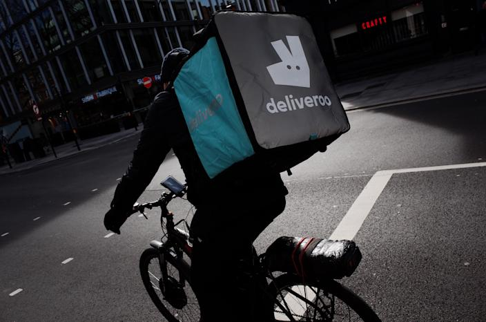 Food delivery services have been among the winners of the coronavirus lockdown, as large swathes of the economy ground to a halt. Photo: David Cliff/NurPhoto via Getty Images