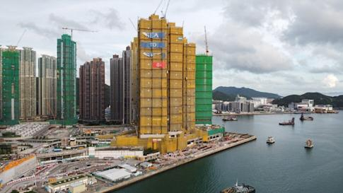 """Aerial view of CK Asset Holdings """"Sea to Sky"""" residential development project in Lohas Park, Tseung Kwan O on 10 June 2020. Photo: Sun Yeung"""