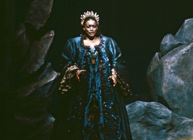 "This 1984 image released by the Metropolitan Opera shows Jessye Norman in the title role of Strauss' ""Ariadne auf Naxos,"" in New York. Norman died, Monday, Sept. 30, 2019, at Mount Sinai St. Luke's Hospital in New York. She was 74. (Erika Davidson/Metropolitan Opera via AP)"