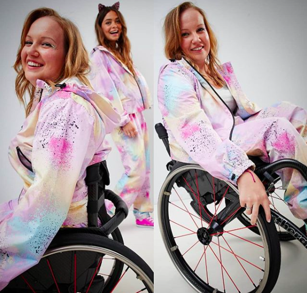 ASOS have featured their first model with a disability [Photo: ASOS/Instagram/chloe_ballhopzy]