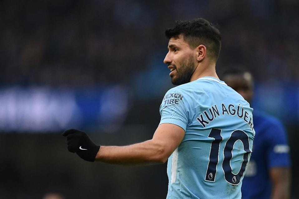 Sergio Aguero is Manchester City's all-time leading goalscorer (AFP Photo/Oli SCARFF )