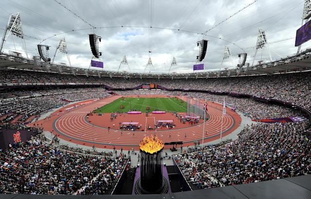 The Olympic Stadium in 2012.