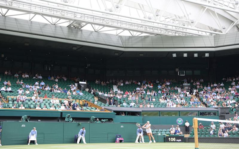 Centre court at Wimbledon - Copyright ©Heathcliff O'Malley , All Rights Reserved, not to be published in any format without pri