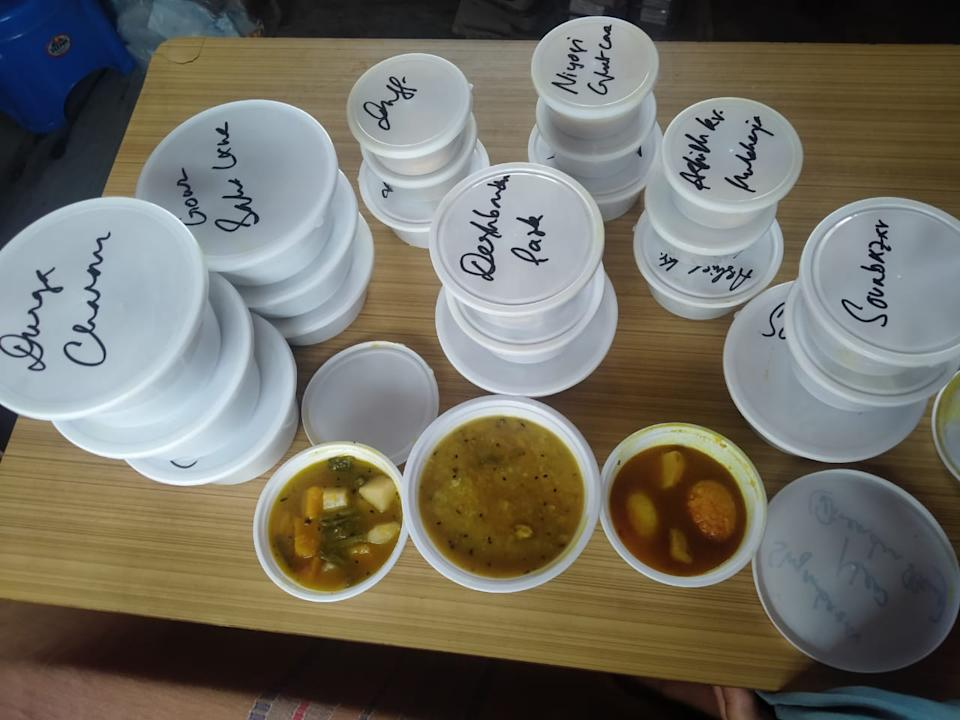 Srabasti packed home-cooked meals for covid patients