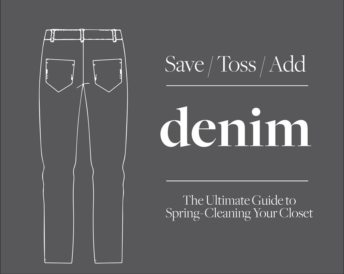 "<p>Denim can be particularly hard to part with, as we tend to wear our favorite pairs until we literally wear them <i>out</i>. But this spring, your jeans collection deserves a bit of adjusting. </p><p>Here, Catherine Ryu,<a href=""https://www.citizensofhumanity.com/""> Citizens of Humanity </a>creative director, shares her tips on how to give your denim wardrobe a proper spring cleaning.<br /></p>"